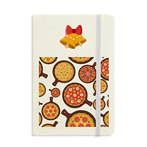 (Pizza Italy Tomato Foods Peppers Notebook Journal Christmas Jingling Bell)