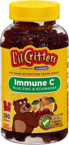 - L'il Critters Immune C Plus Zinc and Echinacea with Vitamin D Gummy Bears (Pack of 2)