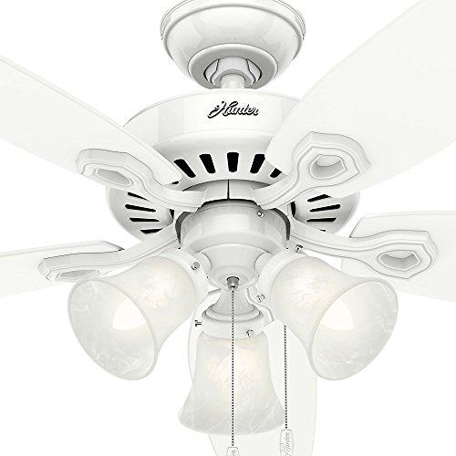 Hunter 53236 Builder Plus 52-inch Ceiling Fan, Snow White by Hunter Fan Company (Image #5)'