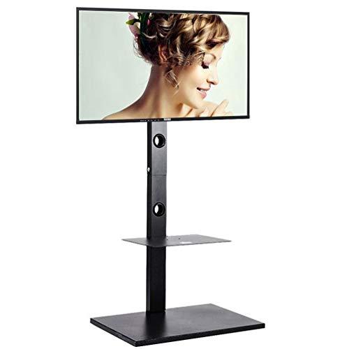 Floor TV Stand Mount 65 Inch TV Base for Corner Height Adjustable Tilt Bracket 2 Shelves HD Cable Fits Most Flat Screens