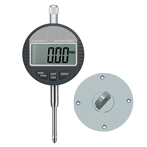 AUTOUTLET Digital Dial Indicator Probe 0.01mm/0.0005'' Range DTI Gauge Dial Test Indicator 25.4mm/1'' High-Precision Measurement Industrial Indicators