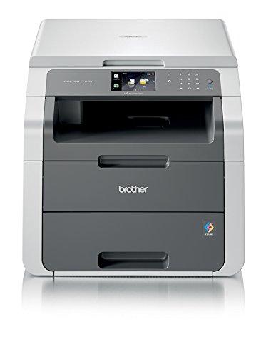 Brother DCP-9017CDWG1 Kompaktes 3-in-1 Multifunktionsgerät (Kopierer, Farbscanner) schwarz/grau