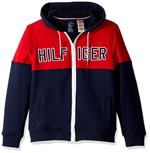 2913b149b4188a Tommy Hilfiger Adaptive Men's Hoodie Sweatshirt with Magnetic Zipper, Navy  Blazer/Multi X-