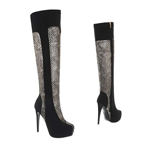 design Nero Classici Stivali Donna Ital Oro TWHYqASqc