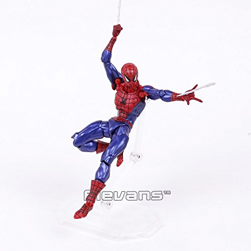 Revoltech Series NO.002 Spiderman The Amazing Spider Man PVC Action Figure Collectible Model Toy - Glasses Spider Man Amazing
