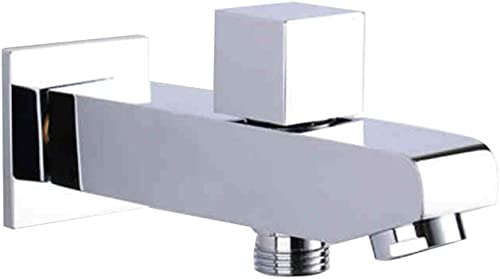 AZOS Bathroom Tub Spout Shower Kit with Faucet Diverter Connector Switcher Wall Mounted Brass Chrome Polish,AZPJ020
