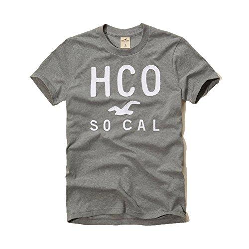 Hollister Hco Logo Mens Graphic T Shirt Tee  L  Gray  17 Tee