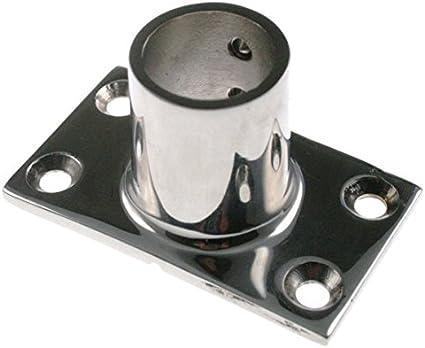 Relingsfuß Relingbeschlag Edelstahl 90° 22mm Rohr