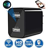Hidden Camera, Spy Camera Wireless Hidden WiFi Camera with Remote Viewing & Motion Detection, 1080P HD Nanny Cam/Security Camera for Home Office, Support iOS/Android, No Audio