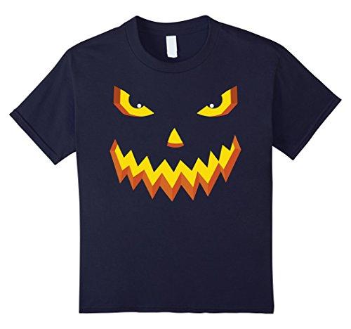 Ghost Face Killer Costume (Kids Lantern Pumpkin Halloween Face T Shirt 12 Navy)