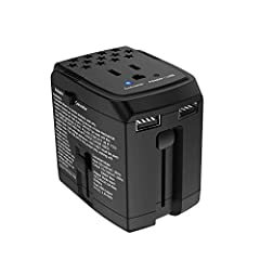 The Smallest & Lightest Universal Travel Adapter and Converter You Will Ever Need.All in one travel adapter (UK/US/AU/EU Plug) that fits electrical outlets in most commonly visited countries, over 150 countries. 220V to 110V Converter: If...