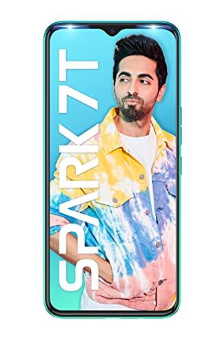 Tecno Spark 7T(Jewel Blue, 4GB RAM, 64GB Storage) 6000 mAh Battery| 48 MP AI Dual Rear Camera, 6.52 Handy Size