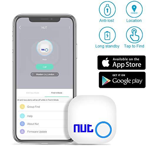 Smart Key Finder Anti-Lost Tracker - Evershop Bluetooth Tracker GPS Locator Wallet Phone Key Anti-Lost Bidirectional Alarm Reminder for Phone, Pets, Keychain, Wallet,Luggage
