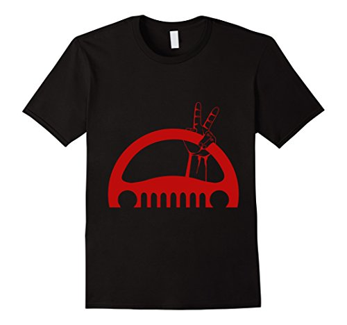 Wave Driver (Mens Funny Off Road Driving T Shirt For Jeep 4X4 Drivers XL Black)