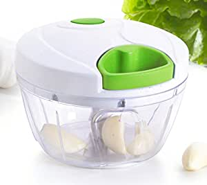 Kuuk Mini Pull Chopper Food Processor - Vegetable, Fruit, Garlic and Herb Slicer