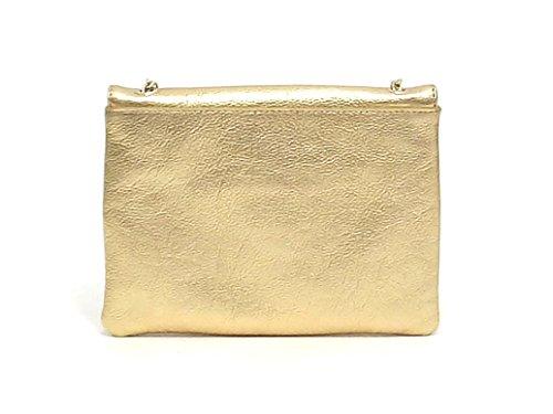 Coccinelle borsa donna, Minibag BV3 55E507, borsa a spalla pelle, platino E8102