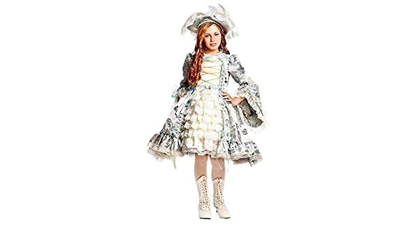 Italian Made Girls Deluxe Renaissance Pirate Carnival Fancy Dress Costume Outfit