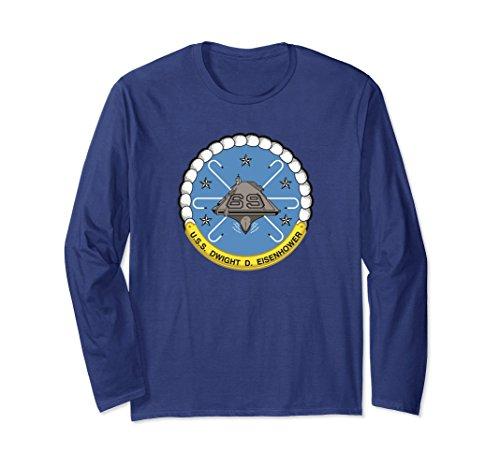 Unisex USS Dwight D. Eisenhower CVN-69 Aircraft Carrier Shirt 2XL Navy ()