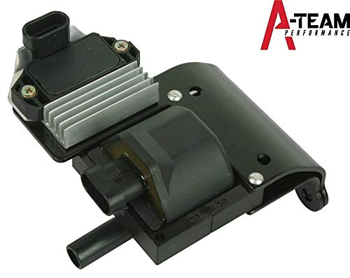 (A-Team Performance IGNITION COIL Compatible With CHEVROLET DR49 WITH IGNITION MODULE D577 GMC ISUZU)