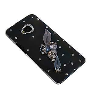 HKCFCASE Brillante Lujo Crystal Bling Diamante Funda Carcasa Caso Tapa Cover para HTC One M7