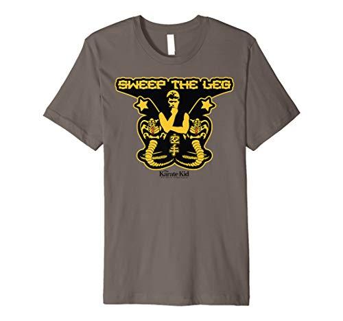 Karate Kid Sweep The Leg Cobra Logo Premium - Cobra Logo T-shirt