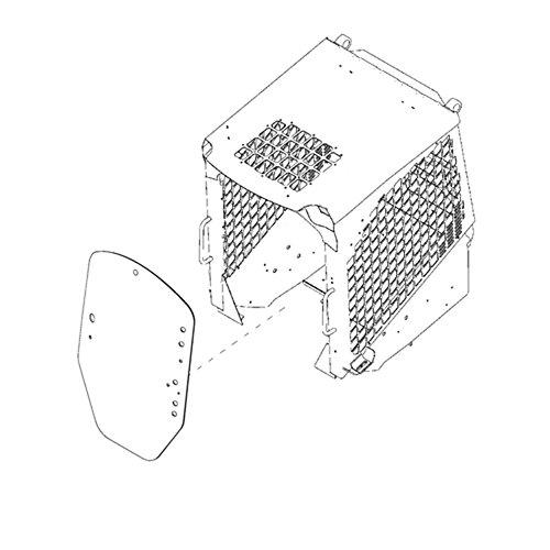 John Deere Loaders (T312628 Front Windshield Glass Made for John Deere Skid Steer Loader Models 318D 318E)