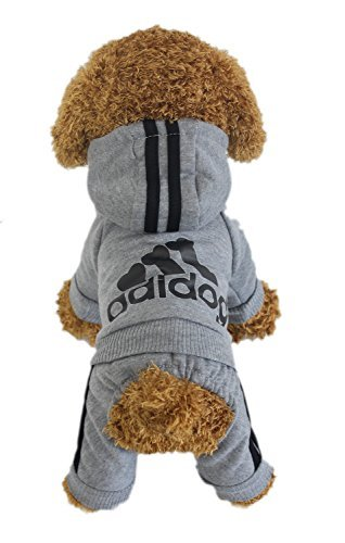 LifeWheel Pet Cat Dog Sweater Hoodies Jacket Pullover Coat Clothes For Winter(Grey,XXL) by LifeWheel