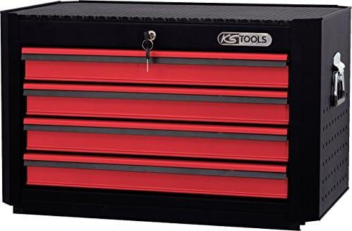 KS Tools Master 876.0014 - Caja de herramientas con cerradura superior y 4 cajones, color rojo y negro: Amazon.es: Bricolaje y herramientas