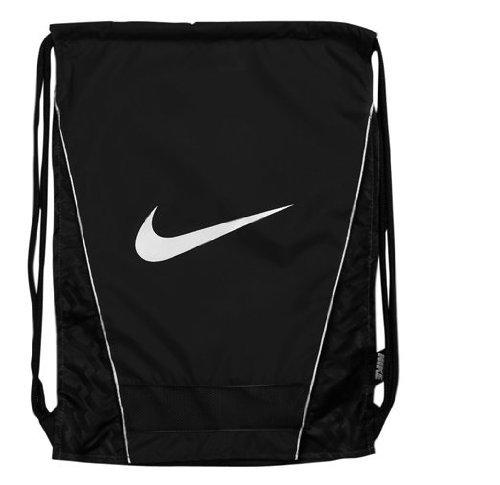 New Nike Brasilia Gymsack DS Bag Black/Black/White