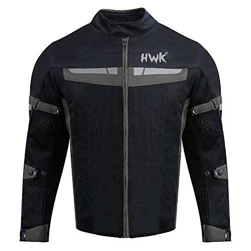 - HWK Mesh Motorcycle Jacket Riding Air Motorbike Jacket Biker CE Armored Breathable (XX-Large, Black)