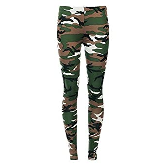 e3abf30cda8bea New Women's Camouflage Army Print Leggings, Vest Top 8-22: Amazon.co ...
