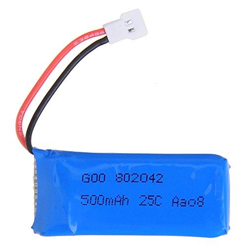 JINTO®4 Pcs 3.7V 500mAh 25C Battery For Hubsan X4 H107 H107L H107C H107D V252 JXD385