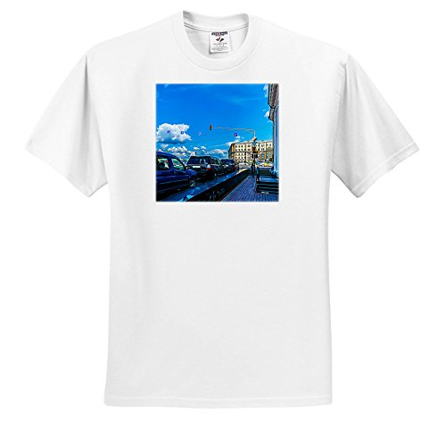 Price comparison product image Alexis Photo-Art - Moscow City 2 - Artistic Moscow - Red Traffic Light, Blue Sky, Blue Cars and Shadows - T-Shirts - Youth T-Shirt Large(14-16) (TS_272405_14)