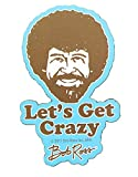 "Bob Ross 3"" Funky Chunky Magnet:""Let's Get Crazy"""