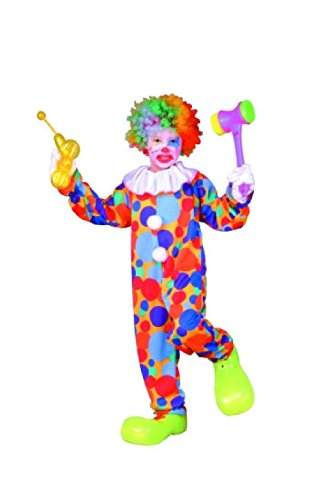 Convict Clown Child Costume (OvedcRay Polka Dots Clown Child Boy Costumes Circus Jester Kids Jumpsuit Costume)