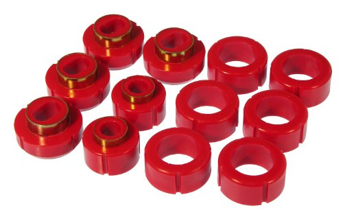 Prothane 7-115 Red Body and Standard Cab Pickup Mount Bushing Kit - 12 Piece