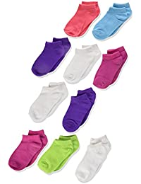 Toddler Girls' Low Cut Socks 10-Pack