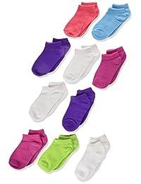 Hanes Calcetines de corte bajo para niñas bebés, paquete de 10