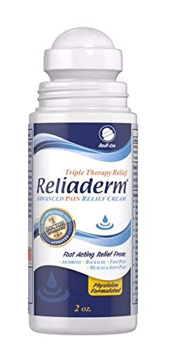 Reliaderm Topical Chronic Pain Relief Cream | Roll-On Applicator | Fast-Acting, Long-Lasting, Strong Healing | Relieve Arthritis, Muscle, Knee, Back, Foot, Neck, Shoulder, Joint Pain | Vanishing Scent (Best Over The Counter Pain Patch)