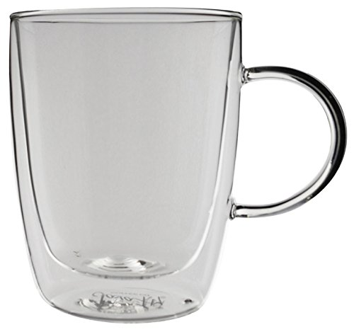 Double Walled Glass Cup, Set of 2 from JavaFly, 12oz