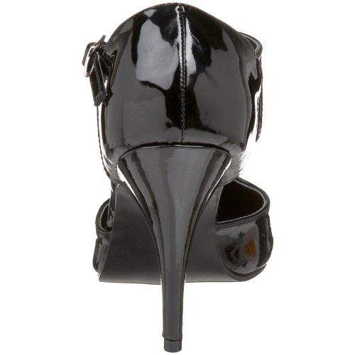 Blk Pleaser Mujer de Negro Tacón Pat Vanity 415 Zapatos para qf1w86qx