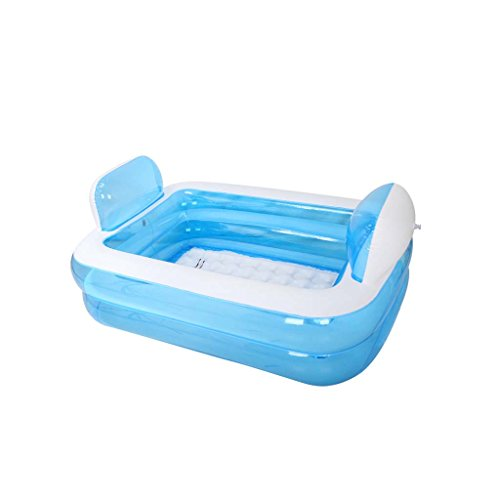 Inflatable Bathtub Adult Portable,Folding Comfortable Bath,Home Spa Massage Quality Tub Soaking Baths Inflatable Pools- Thick - Bath Tub System Air Including