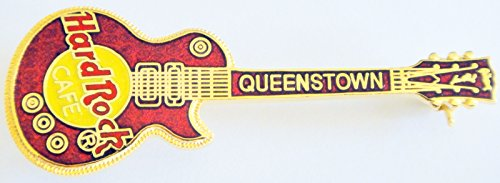 (Hard Rock Cafe Queenstown 2001 Red Les Paul Guitar Pin )
