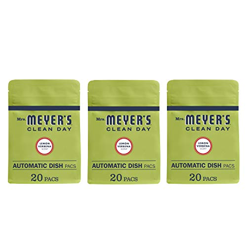 (Mrs. Meyer's Clean Day Automatic Dish Pacs, Lemon Verbena Dishwasher Pods, 20 pods (Pack of 3))