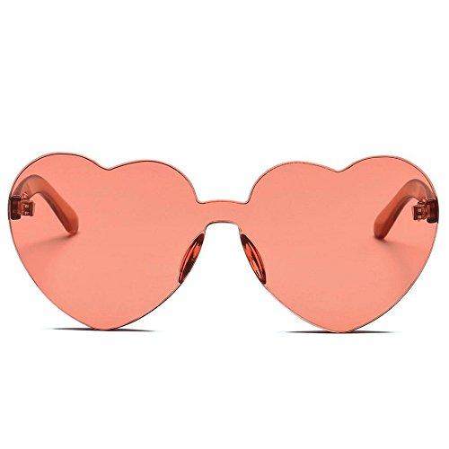 Corazón Moda Color rojo Las Caramelo Sol Integrado En de Gafas de Forma Logobeing Vino De Uv Mujeres Gafas de PfqU0xnEw