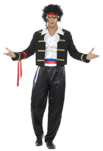 Smiffy's Men's 80s New Romantic Costume, Black, (80's New Romantic Costumes)