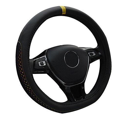 Black/&White Universal Car Steering Wheel Cover Steering Wheel Cover with Crown and Rivet PU Leather 37-39CM//15 Anti Slip Protector Steering Wheel Protector For Women /& Girls