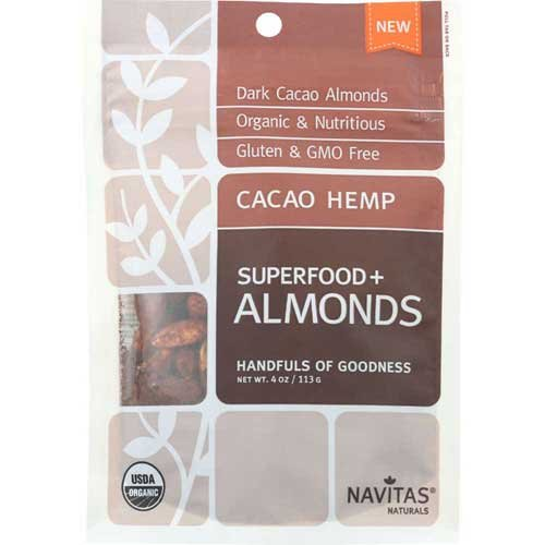 Navitas Naturals Organic Superfood Plus Cacao Hemp Almond, 4 Ounce -- 12 per case.