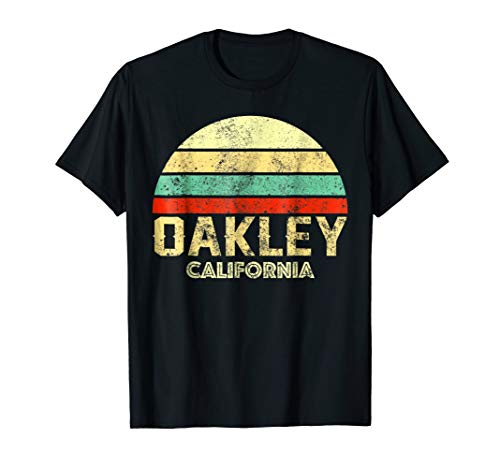 Oakley California CA Vintage Retro Sunset Tee T Shirt for sale  Delivered anywhere in USA