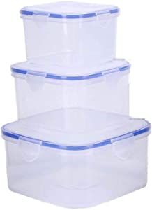 Plastic Food Storage Containers Set,BPA Free,100% Leak Proof Airtight Food Storage Container,Perfect for on-the-go snacking